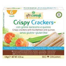 Crispy crackers con grano saraceno e quinoa
